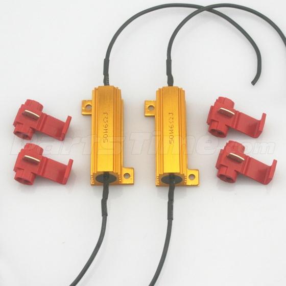 2x load resistor 50w 6 ohm fix led bulb fast flash turn signal 2x load resistor 50w 6 ohm fix led bulb fast flash turn signal blink