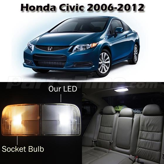 6 White Map Dome Trunk License Interior Light Package For 2006 2012 Honda Civic Ebay