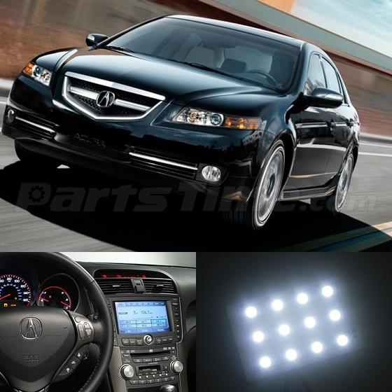 7x white lights led interior package smd chips for acura tl 2004 2008 ebay 2004 acura tl led interior lights