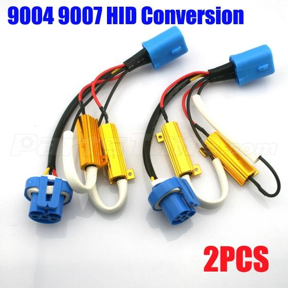 9007 hid bulb wiring 2x 9004 9007 wiring harness adapter hid conversion kit ... #4