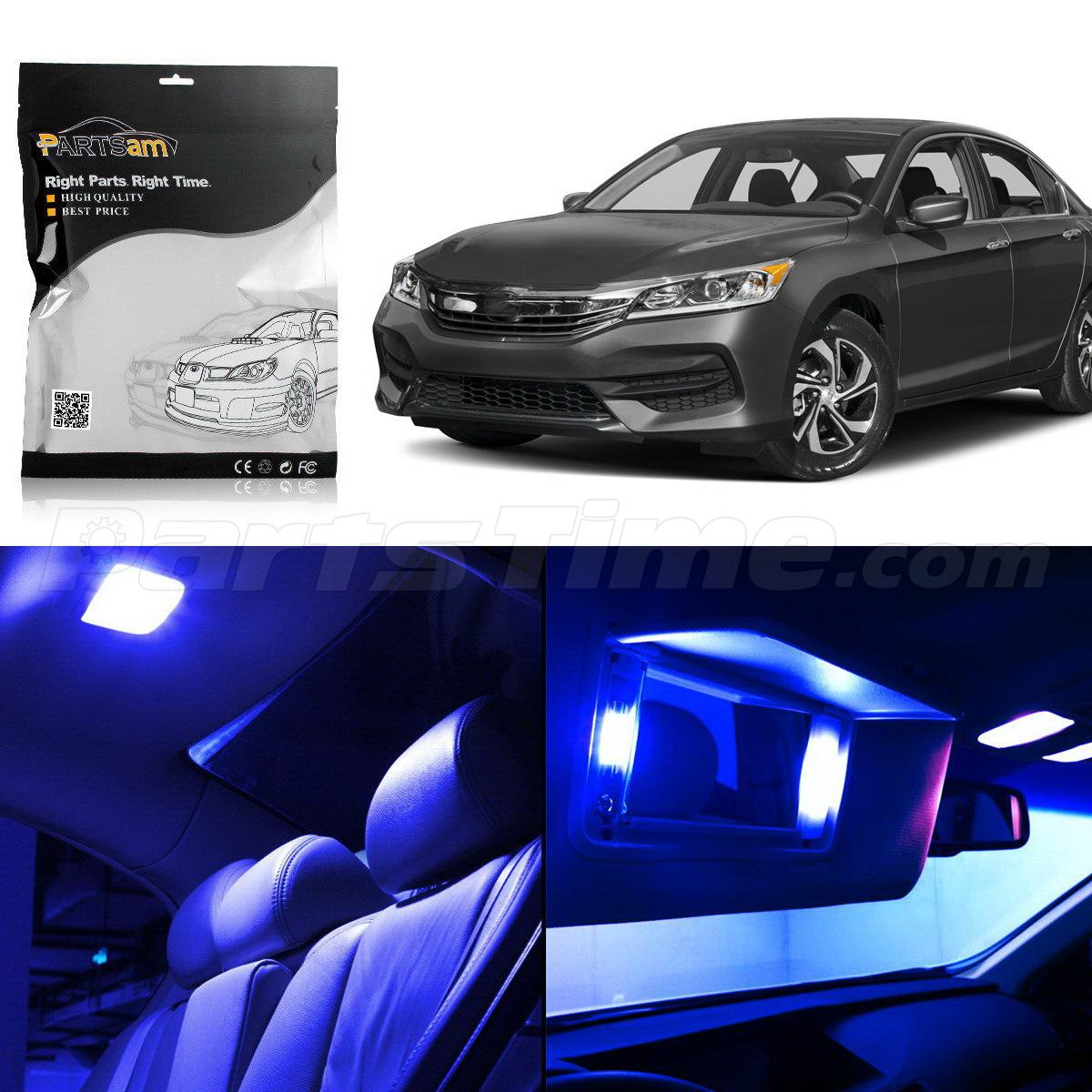 8x interior lights package blue led bulbs for honda accord - Honda accord interior light bulb replacement ...