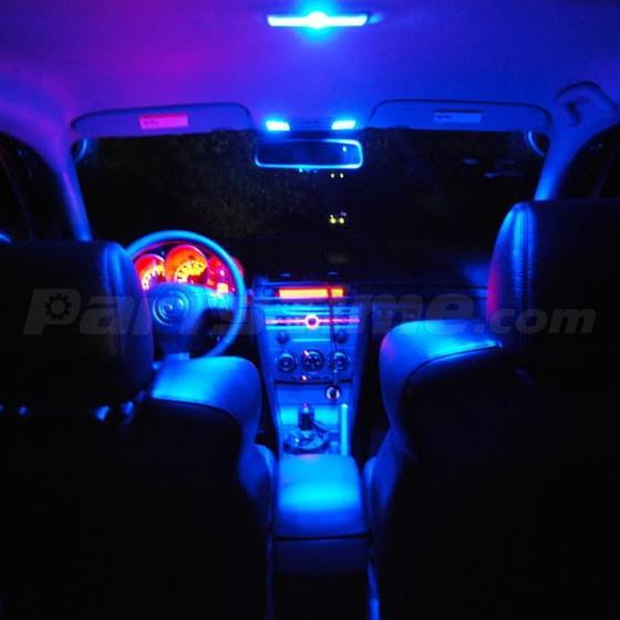 7 x bright blue led lights interior package deal for mazda 3 ms3 sedan ebay. Black Bedroom Furniture Sets. Home Design Ideas