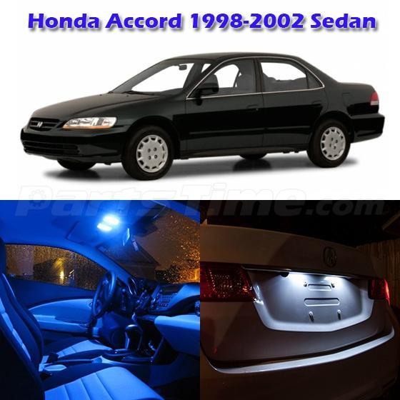 10 Blue LED Interior Light Package For Honda Accord Sedan