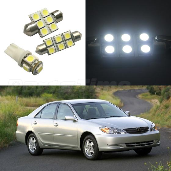 6x white smd led interior light package deal for 2002 2006 toyota camry ebay. Black Bedroom Furniture Sets. Home Design Ideas