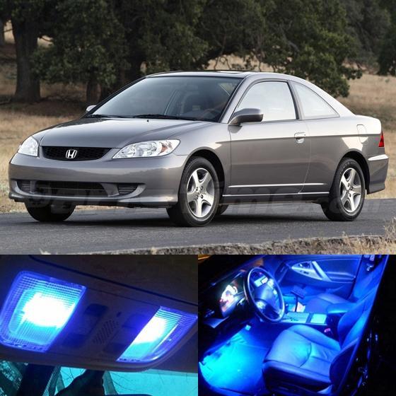 Civic Sedan Interior: 7x Blue LED Lights Interior Package For Honda CIVIC 2001
