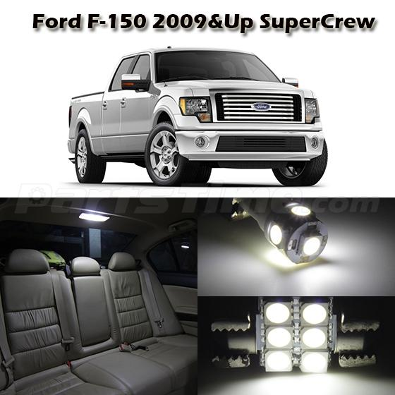 7 White LED Light Interior Package For Ford F-150 2009 Up