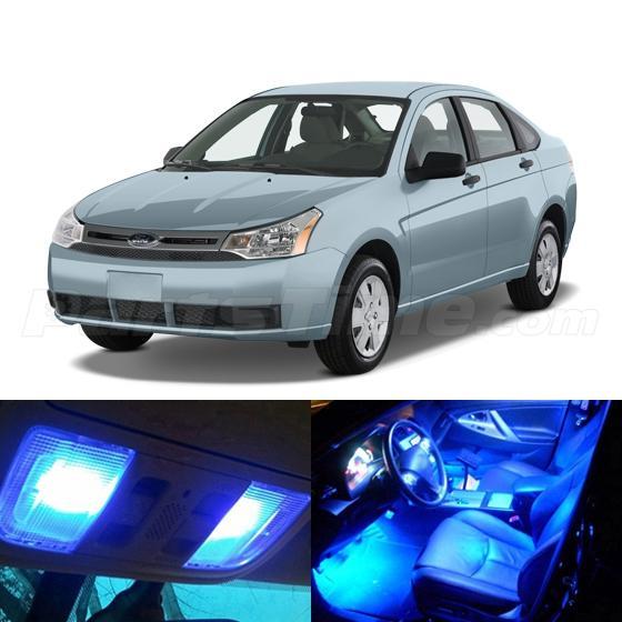 6x Blue Led Light Interior Bulb Package Deal For 2008 2011 Ford Focus Ebay