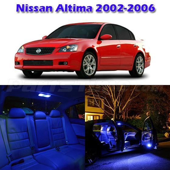 7x blue map dome trunk door led lights kit for nissan - 2006 nissan altima interior lights ...