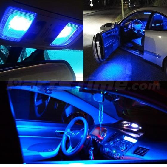 13 blue led lights interior package for 2007 2012 nissan altima coupe. Black Bedroom Furniture Sets. Home Design Ideas