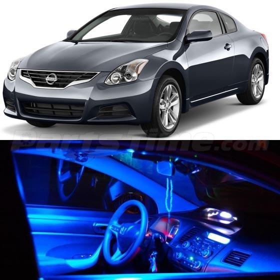 13 Blue Led Lights Interior Package For 2007 2012 Nissan Altima Coupe