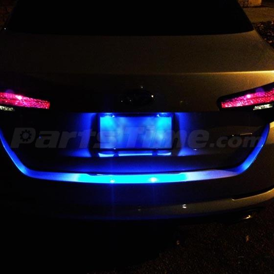 Blue 9pc Led Lights Interior Package Kit For Hyundai Sonata With Sunroof 2011 13 Ebay