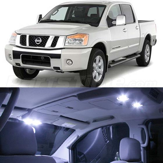 10 white led interior lights bulbs package kit for 2004 2015 nissan titan pickup ebay 2015 nissan altima interior lights