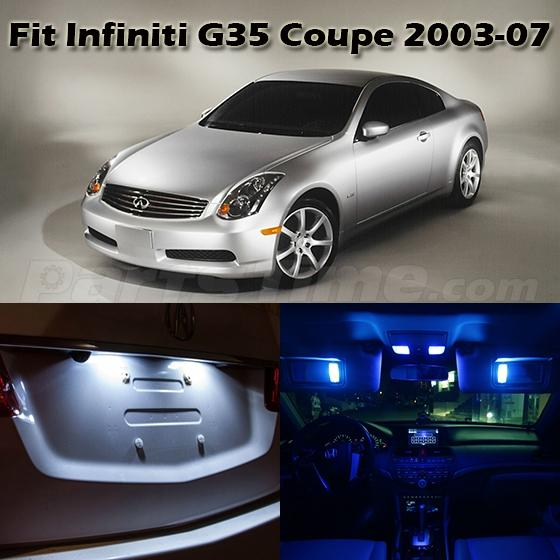 2007 Infiniti M Interior: 7 X Blue LED Lights Interior Package Deal For 2003-2007