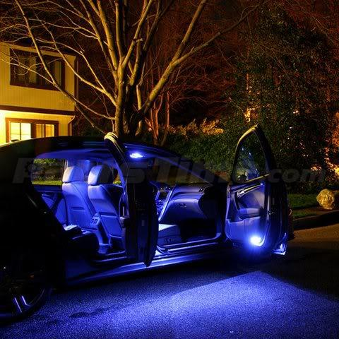 7 x blue led lights interior package deal for 2003 2007 infiniti g35 coupe ebay. Black Bedroom Furniture Sets. Home Design Ideas