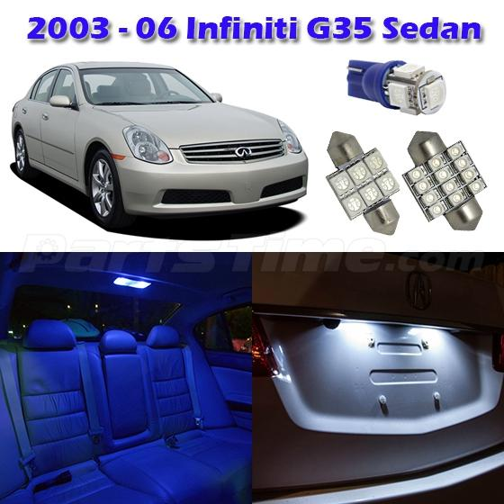 9 blue led interior map dome license plate light package for infiniti g35 sedan ebay. Black Bedroom Furniture Sets. Home Design Ideas