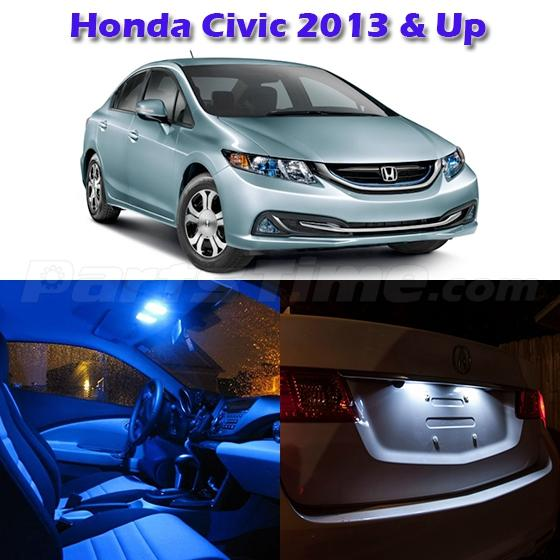 6x Blue Led Light Interior Bulb Package For Honda Civic 2013 And Up Ebay
