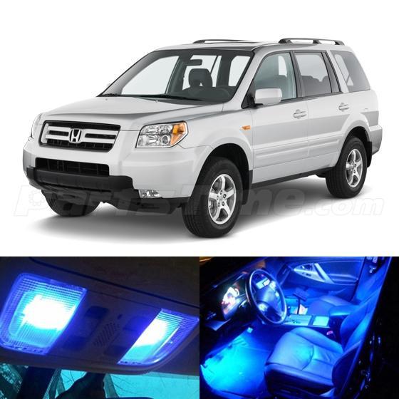 12x Blue Led Light Interior Bulb Package For Honda Pilot 2006 2008 Lx Ex Ebay