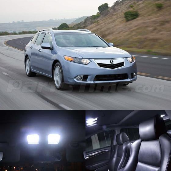 For 2009-2014 ACURA TSX Sedan & Wagon White LED Interior