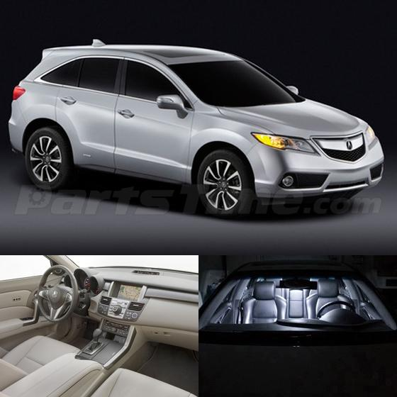 7x Interior Lights Package White LED Bulbs For Acura RDX