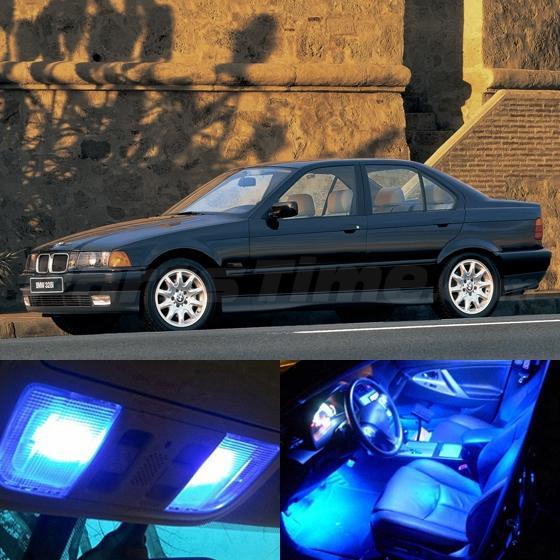 13x blue led light interior bulb package for bmw e36 318i for Interior bmw e36