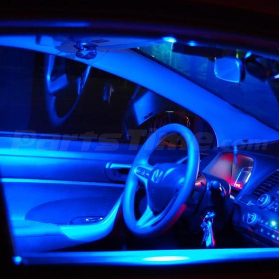 13x Blue LED Light Interior Bulb Package For