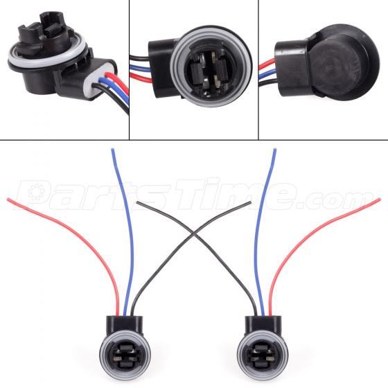 2x 3157 3156 4057 led light bulb brake signal socket extension Eclipse Main Wire Harness Socket 2x 3157 3156 4057 led light bulb brake signal socket extension harness wire Electrical Socket