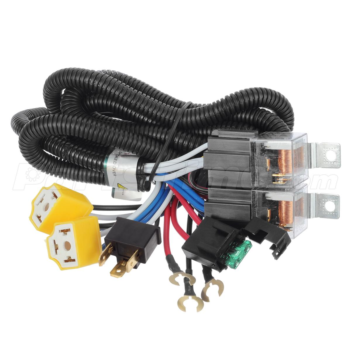 1x ceramic h4 headlight relay wiring harness 2 headlamp light bulb 1x ceramic h4 headlight relay wiring harness 2 headlamp light bulb socket plugs