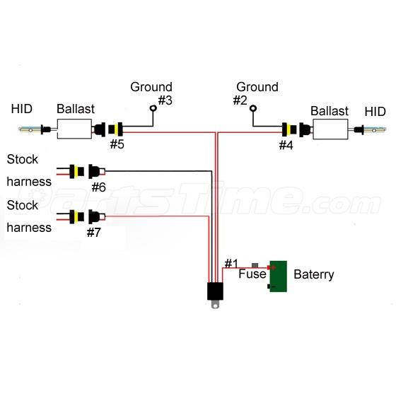 1x xenon hid conversion relay harness wire kit for. Black Bedroom Furniture Sets. Home Design Ideas