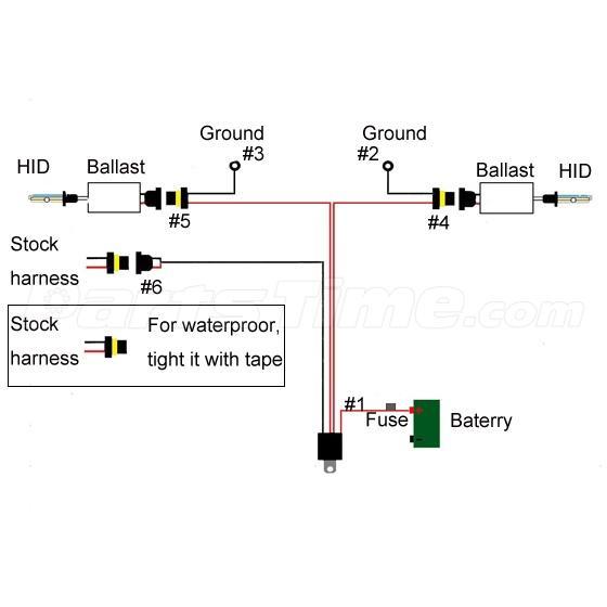 107182 5?rn=555421 1x plug n play xenon hid conversion kit relay wiring harness 9005 9006 hid wiring diagram at bayanpartner.co
