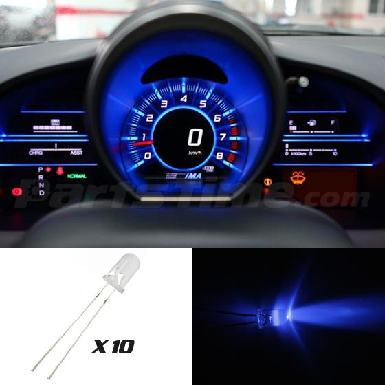 10x Instrument Gauge Cluster Mini 5mm Back Light Blue New