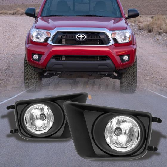 for 12 15 toyota tacoma pickup clear bumper fog lights lamp w switch. Black Bedroom Furniture Sets. Home Design Ideas
