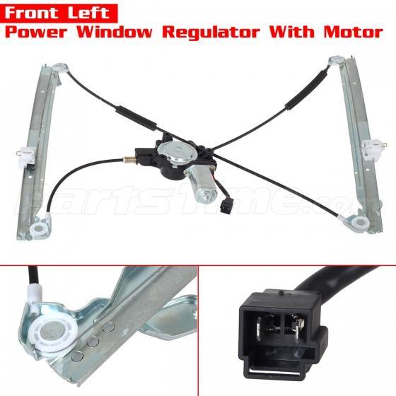Front power window regulator left side with motor for 01 for 2001 dodge grand caravan power window regulator