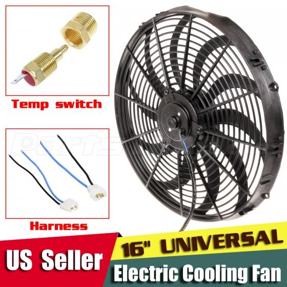 "16"" Electric Radiator Fan+Temperature Thermostat Switch"
