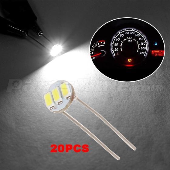 20x White Solder LED Kit Speedometer Cluster Dash Panel