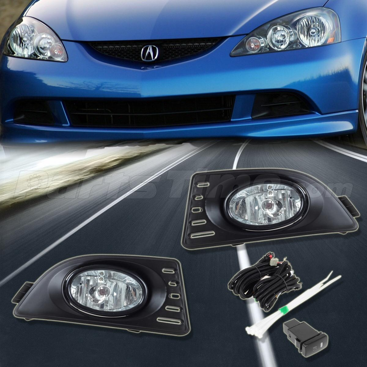 for 05 07 acura rsx clear bumper driving fog lights lamps switch relay. Black Bedroom Furniture Sets. Home Design Ideas