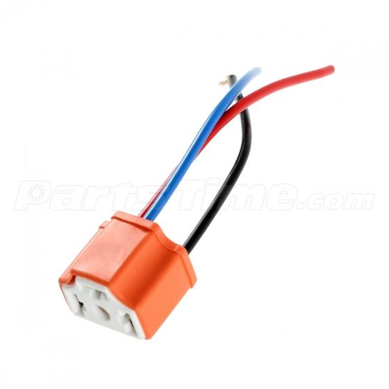 2x 9003 hb2 h4 pigtail female wiring harness ceramic connector pre 2x 9003 hb2 h4 pigtail female wiring harness ceramic connector pre wired socket