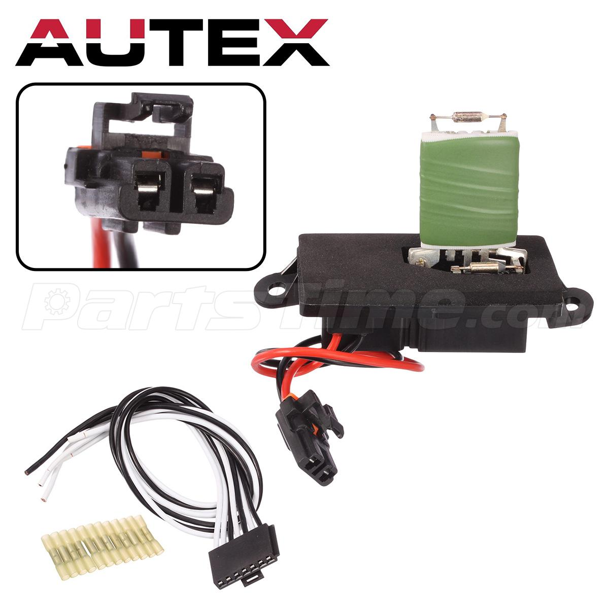 ac blower motor resistor w/ wiring harness for chevy ... electrical wiring 220 ac blower motor ac blower motor wiring