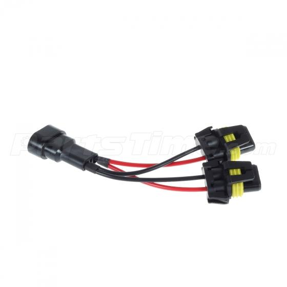 set 2 9005 9006 pre wired wiring harness connector socket for car description