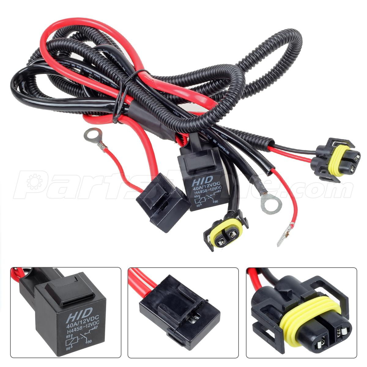 880 h11 hid xenon conversion kit relay wire harness for. Black Bedroom Furniture Sets. Home Design Ideas