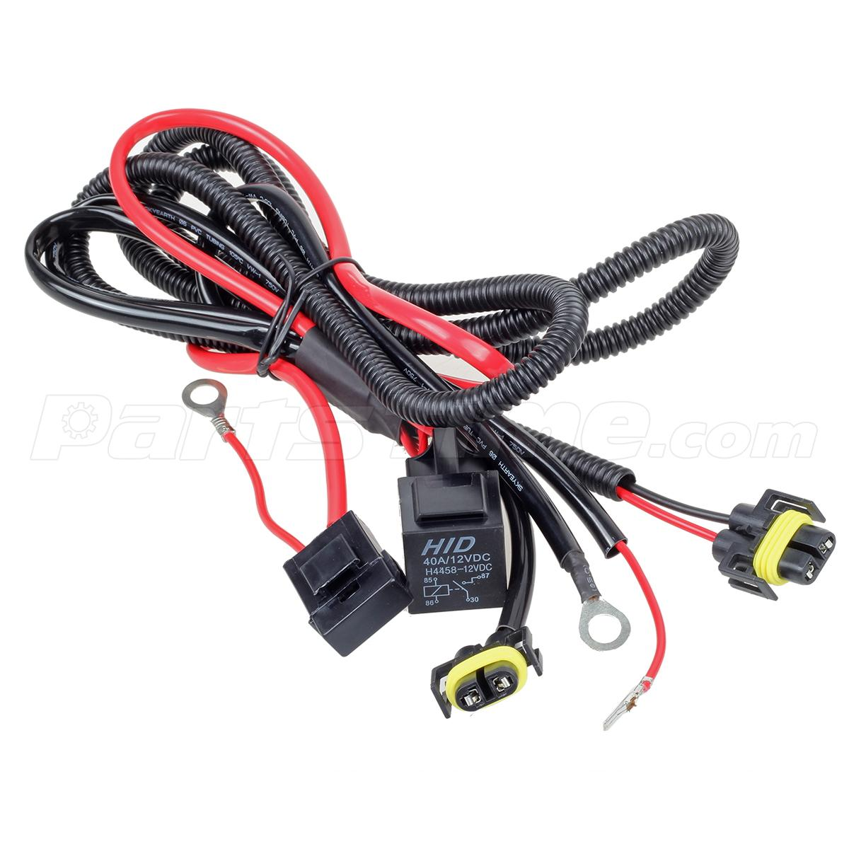 H hid xenon conversion kit relay wire harness for