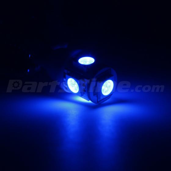 9x USA Blue LED Interior Lights Package For 2008-2012