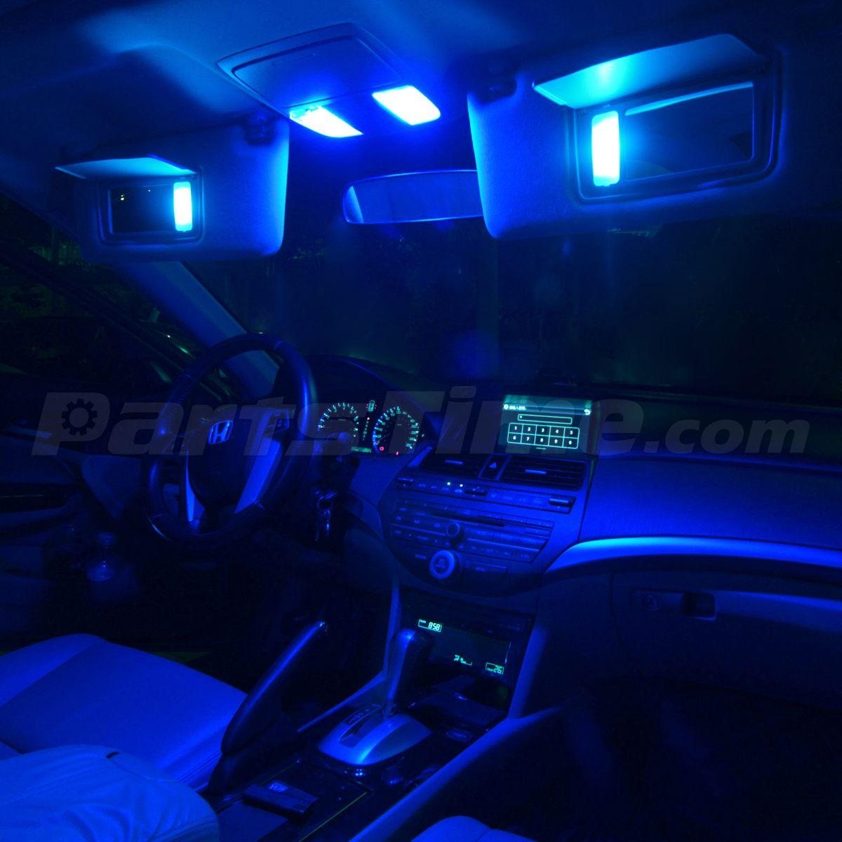 9x usa blue led interior lights package for 2008 2012 - Blue light bulbs for car interior ...
