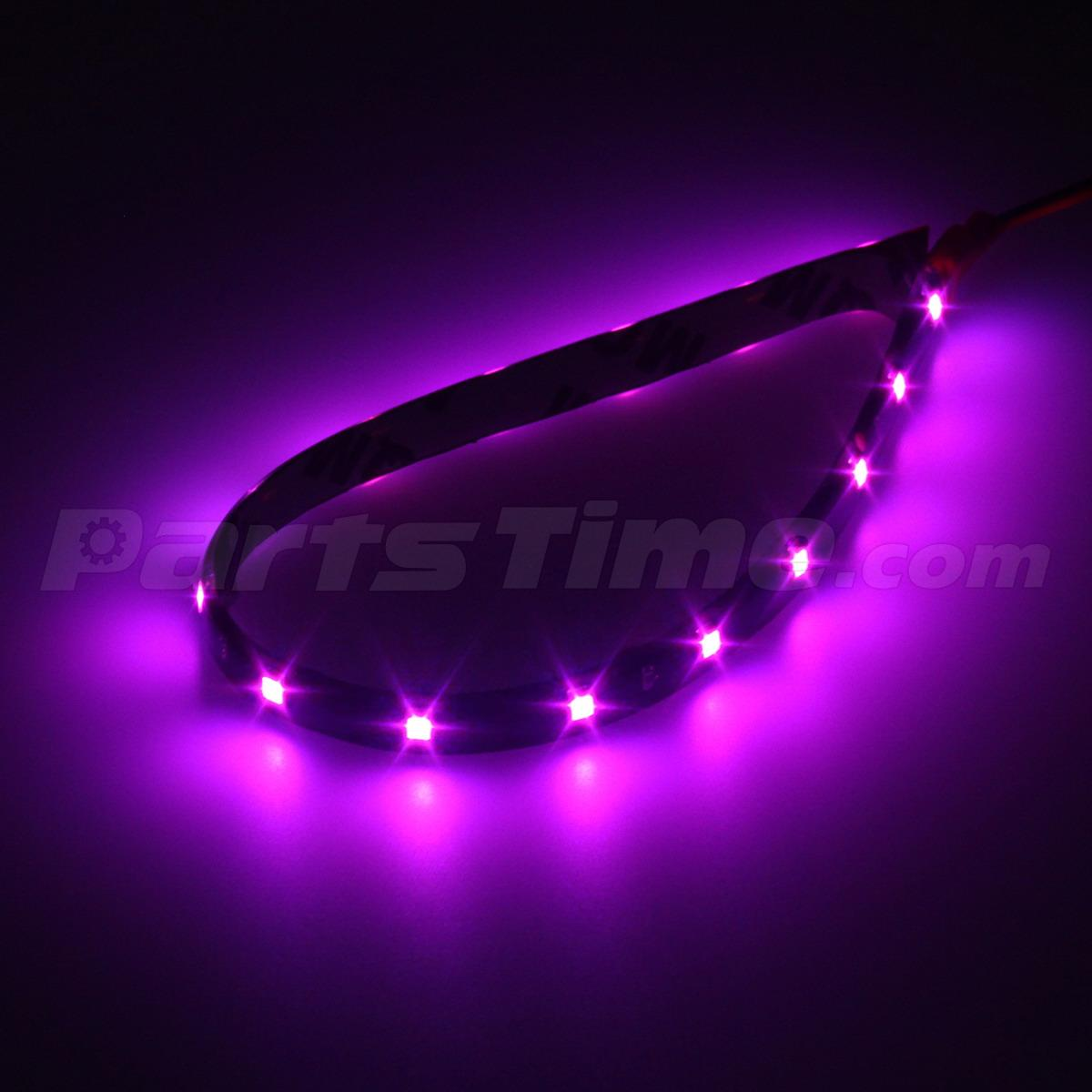 4pcs pink purple led strip lights interior exterior glow neon lighting car truck ebay. Black Bedroom Furniture Sets. Home Design Ideas