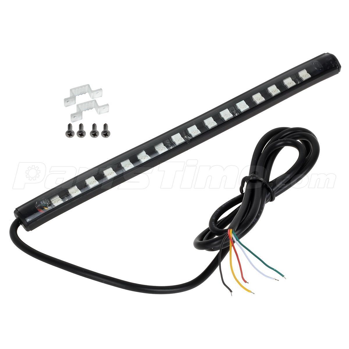 20cm integrated tail brake  u0026 turn signal led light strip
